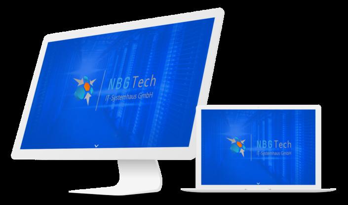 Лендинг Пейдж и логотип компании NBGtech ведущей деятельность в Германии